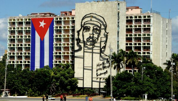 Гавана. Площадь Революции. Здание Министерства внутренних дел Республики Куба, архивное фото