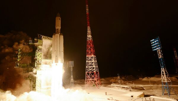 Первый пуск ракеты тяжелого класса Ангара-А5. Архивное фото