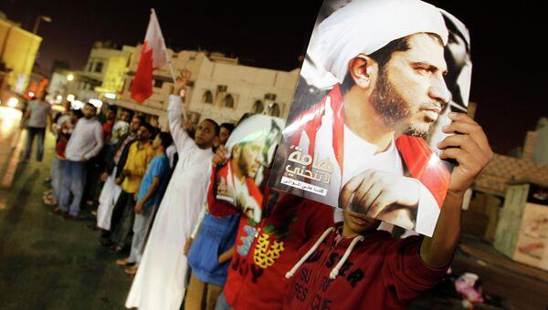 Жители Бахрейна протестуют против ареста генсека оппозиционной партии Аль-Вифак Али Сальмана