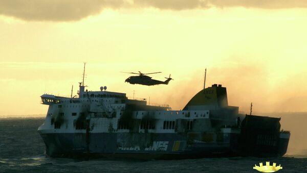 Паром Norman Atlantic горит в водах Греции