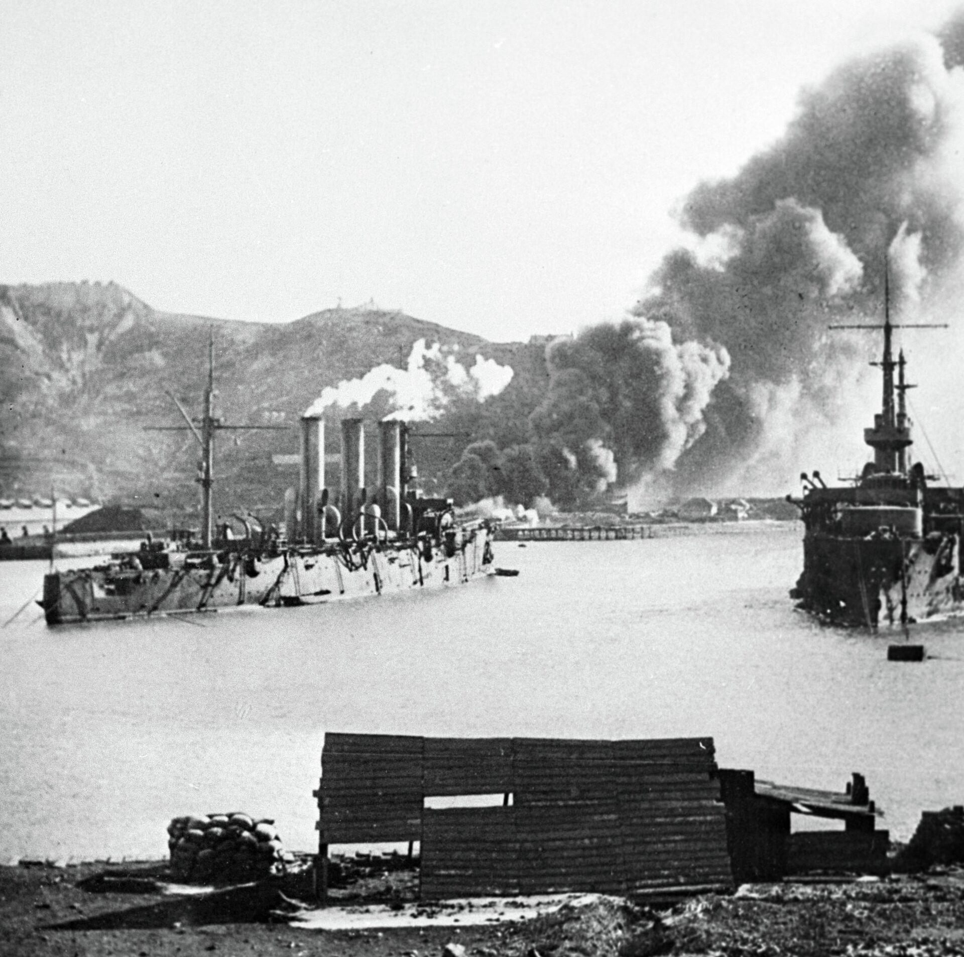 Пожар у Золотой горы во время обороны Порт-Артура - ПРОФИ Новости, 1920, 21.10.2020