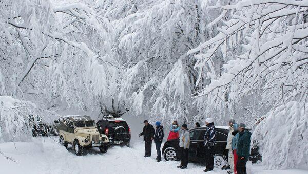 Снегопад в Крыму