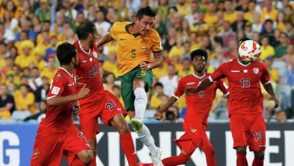 Футбольный матч сборной Австралии против сборной Омана
