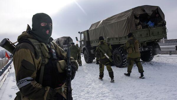Ополченцы неподалеку от Донецка. Архивное фото