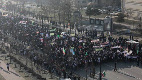 Митинг в защиту исламских ценностей в Грозном. 19 января 2015