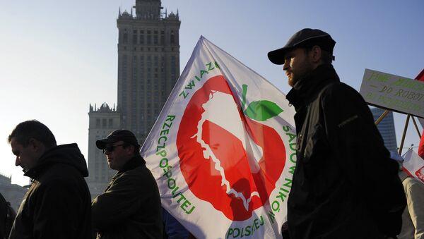 Фермеры и садоводы Польши на акции протеста в Варшаве. Архивное фото