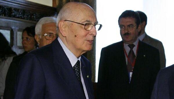Президент Италии Джорджо Наполитано