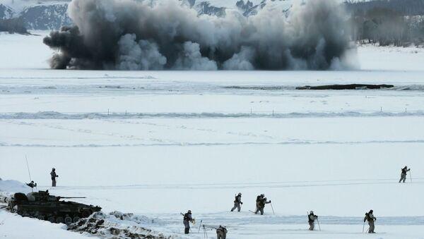 Зимние военные учения. Архивное фото