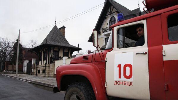Пожарная машина в Донецке. Архивное фото