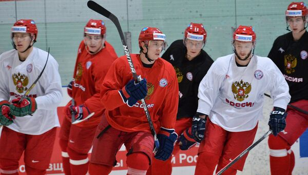 Хоккей. Тренировка сборной России. Архивное фото