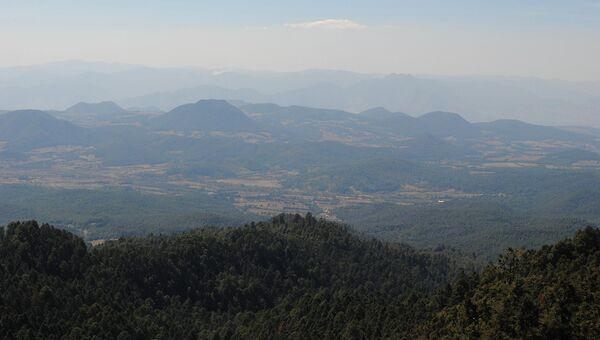 Вид на штат Мичоакан. Архивное фото