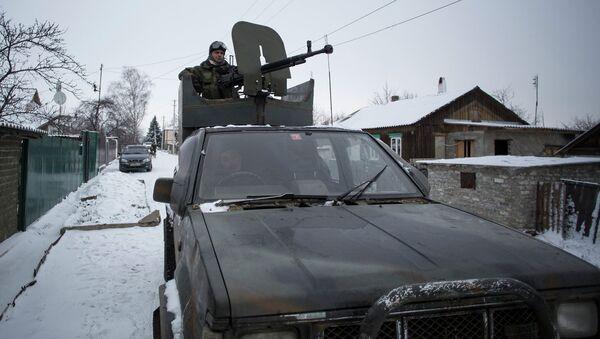 Машина бойцов народного ополчения ДНР, архивное фото