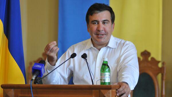 Экс-президент Грузии М.Саакашвили посетил Львов. Архивное фото