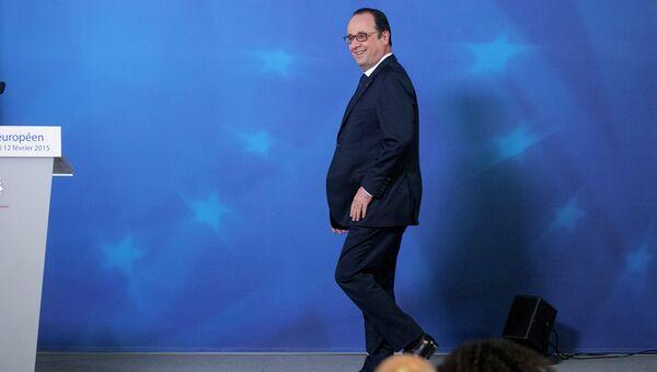 Президент Франции Франсуа Олланд на саммите ЕС в Брюсселе. Архивное фото