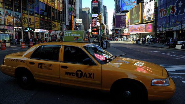 Такси на Таймс-сквер в Нью-Йорке. Архивное фото
