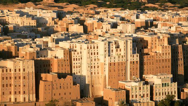 Вид на город Шибам в провинции Хадрамаут, Йемен. Архивное фото