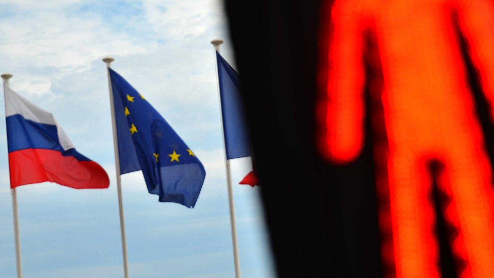 Флаги России, ЕС и Франции - РИА Новости, 1920, 30.05.2021