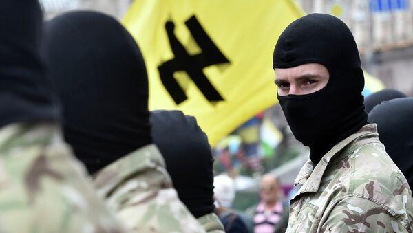 Сторонники радикального движения Правый сектор, архивное фото
