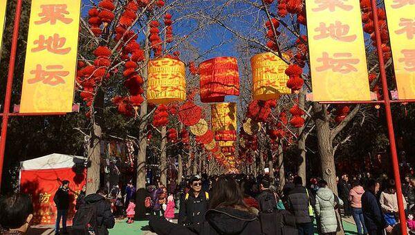 Празднование Нового года по китайскому календарю. Архивное фото
