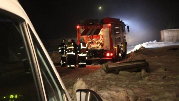 Пожар в ангаре в Санкт-Петербурге. Архивное фото