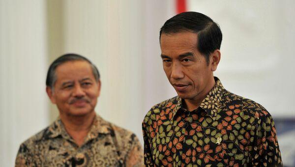 Президент Индонезии Джоко Видодо во время пресс-конференции, посвященной судьбе заключенных, приговоренных к смертной казни
