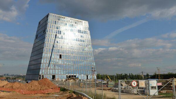 Строительство инновационного центра Сколково на западе Москвы. Архивное фото