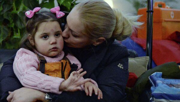Тяжелобольные дети из Донбасса, прибывшие на лечение в Москву. Архивное фото