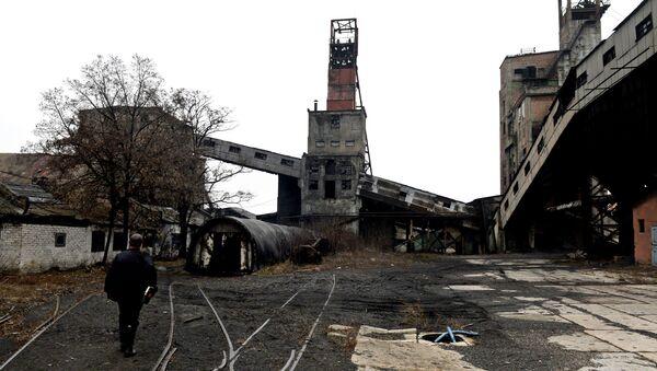 Шахта имени С.П. Ткачука в Харцызске на Донбассе. Архивное фото