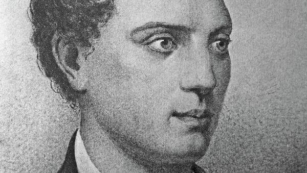 Репродукция литографии А. Мюнстера Портрет Е. А. Баратынского