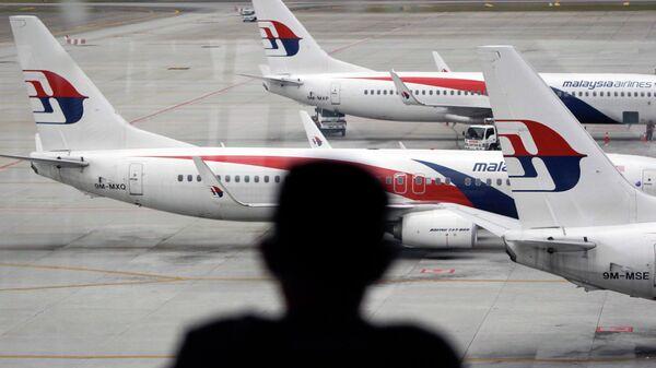 Самолеты авиакомпании Malaysia Airlines в аэропорту Куала-Лумпур