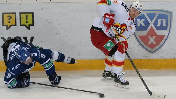 Игрок Йокерита Нико Капанен в матче КХЛ. Архивное фото