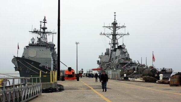 Эскадра кораблей ВМС США, архивное фото