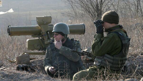 Украинские военные в Донецкой области. Март 2015.