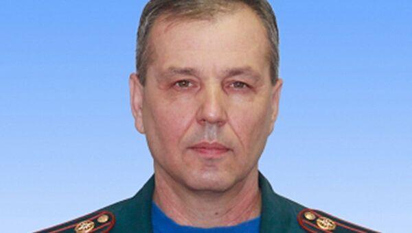 Подполковник внутренней службы МЧС РФ Сергей Костин, погибший при пожаре в ТЦ Адмирал в Казани. Архивное фото