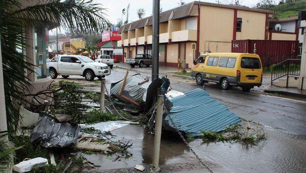 Столица Вануату Порт-Вила после прохождения тропического циклона Пэм
