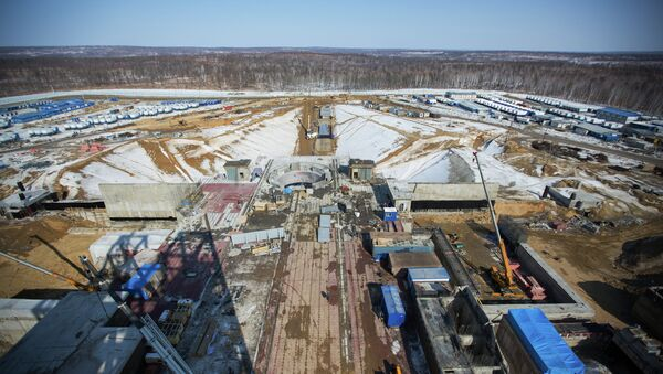Строительство космодрома Восточный в Амурской области. Архивное фото