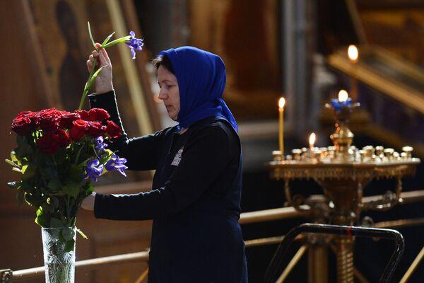 В храме Христа Спасителя на церемонии прощания с писателем Валентином Распутиным