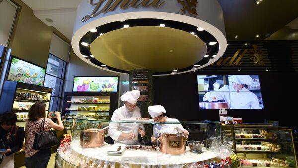 Открытие кафе Lindt. Сидней, Австралия