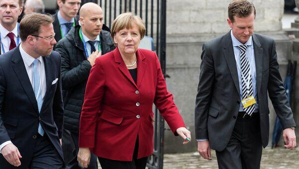 Канцлер Германии Ангела Меркель во время саммита ЕС в Брюсселе