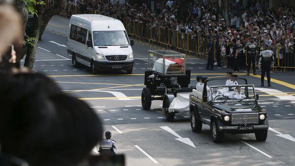 Похороны первого премьер-министра Сингапура Ли Куан Ю