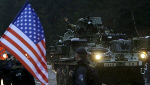 Драгунская прогулка военного конвоя НАТО по Чехии