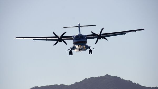 Турбовинтовой самолет ATR 72. Архивное фото