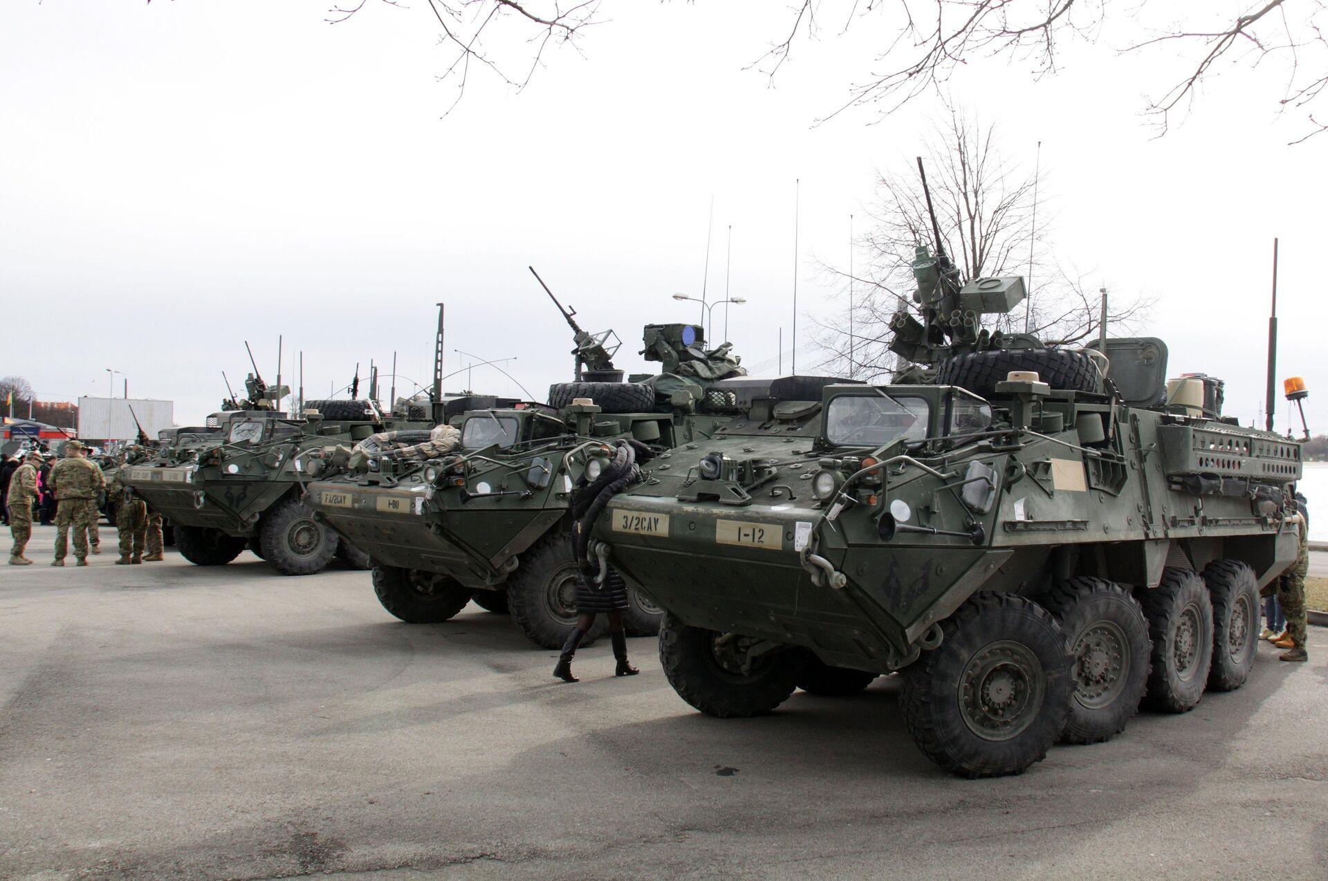 Показательный марш военнослужащих армии США Dragoon Ride в Латвии - РИА Новости, 1920, 21.05.2021