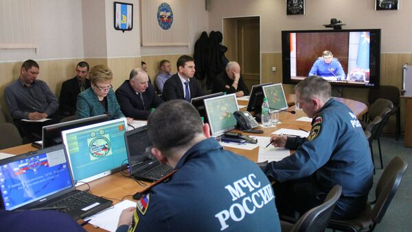 Заседание Правительственной комиссии по спасательной операции в Охотском море. Архивное фото
