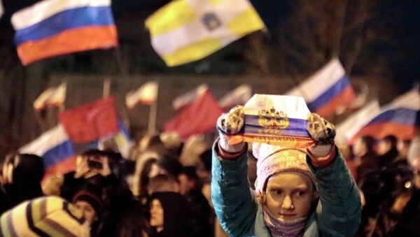 В центре Симферополя - праздничный концерт в честь референдума