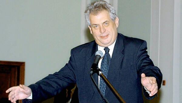 Выступление М.Земана на Форуме деловых кругов России и Чехии в Москве