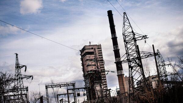 Закрытая угольная шахта около Луганска, Украина