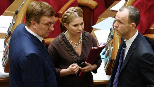 Лидер партии Батькивщина Юлия Тимошенко на заседании Верховной рады Украины. Архивное фото