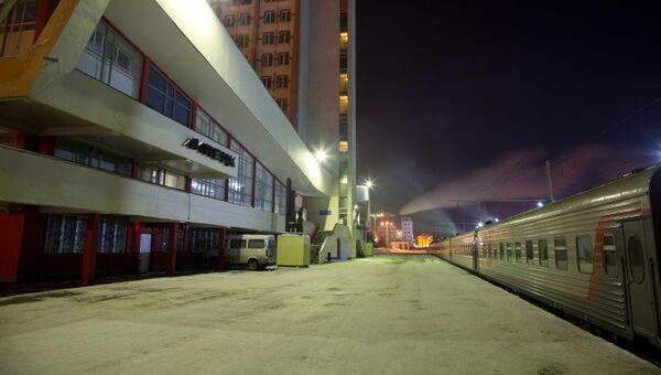 Железнодорожный вокзал города Липецк. Архивное фото