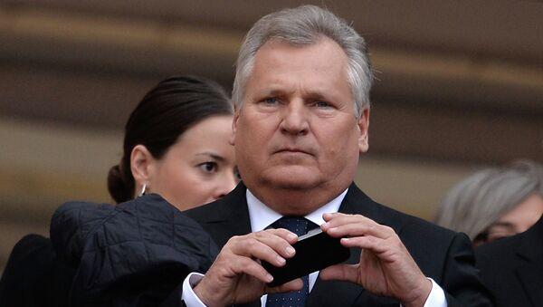 Экс-президент Польши Александр Квасьневский. Архивное фото